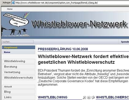Whistleblower-net.de: Die Internetseite gibt ersten Rat