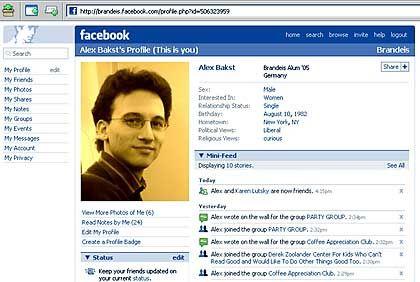 Das eigene Netzwerk organisieren: Screenshot von der Internetseit Facebook