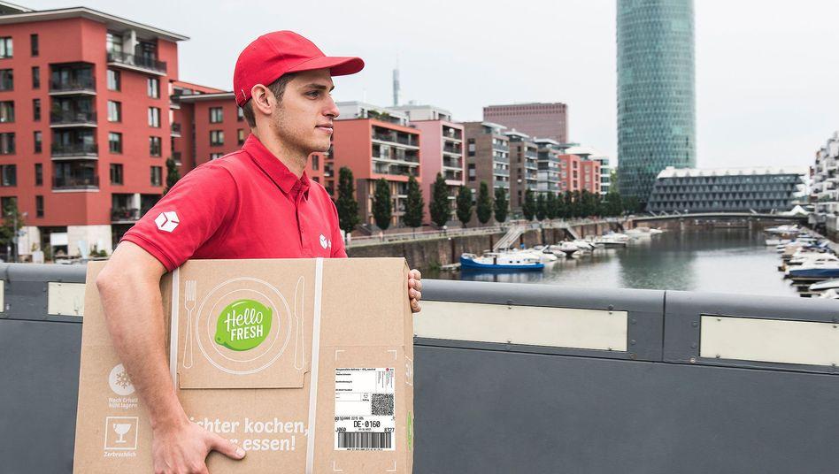 HelloFresh-Paketzustellung: Der Kochbox-Dienst hat es eilig mit dem Börsengang, der schon im September starten könnte