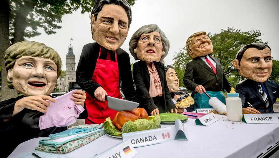 G7-Gipfel in Kanada: Gipfel der Streitigkeiten