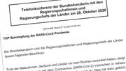 Die Beschlussvorlage aus dem Kanzleramt im Original