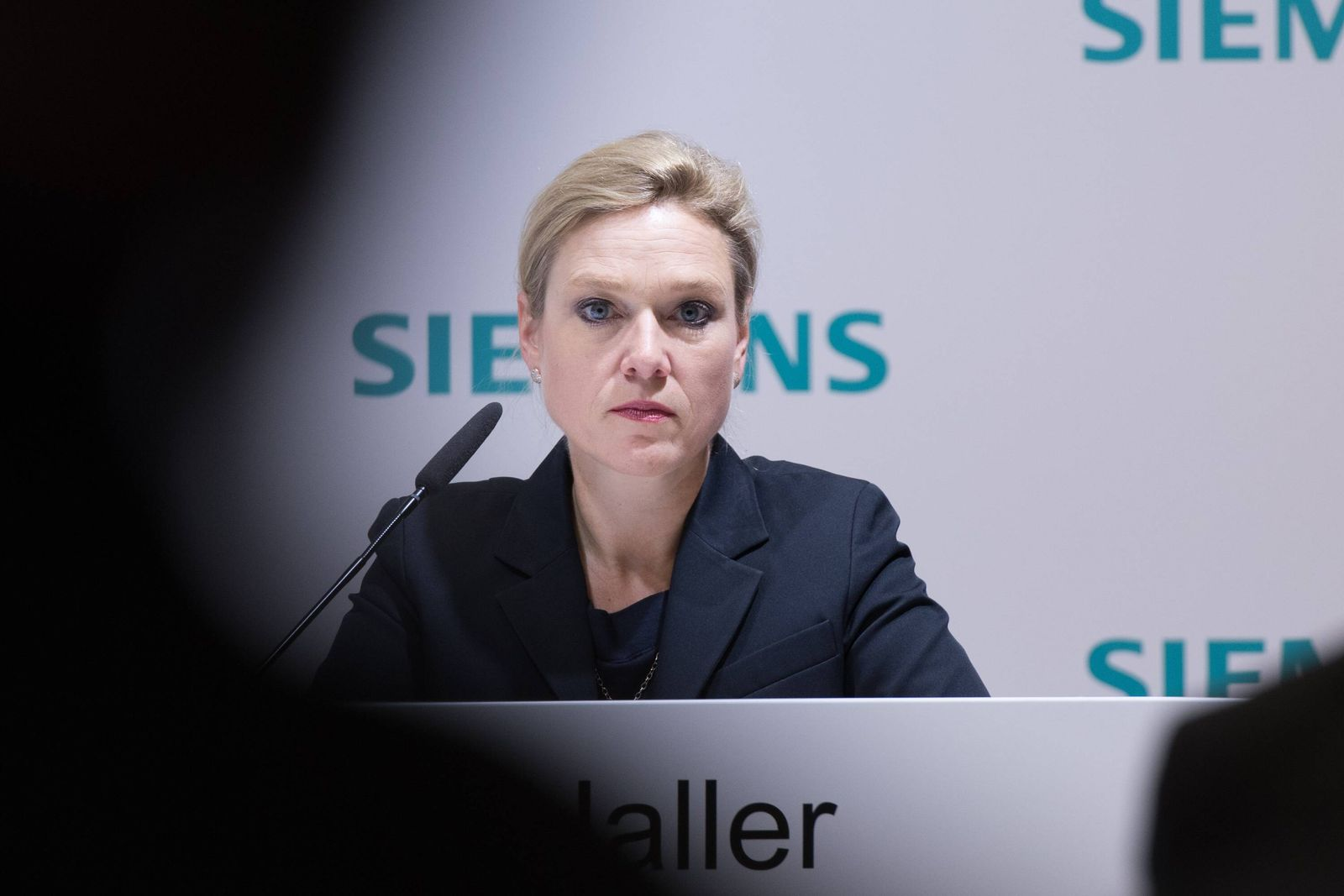 Muenchen Germany 09 11 2017 Jahrespressekonferenz 2017 Siemens AG Leiterin der Unternehmenskommu