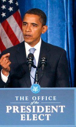 Hoher Erwartungsdruck: Obama, der designierte US-Präsident, will mit einem neuen Konjunkturprogramm 2,5 Millionen Jobs in den USA sichern.