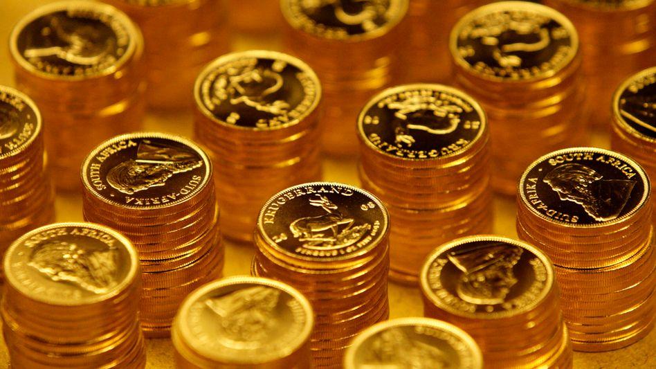 Krügerrand-Goldmünzen: Der Preis wies zuletzt steil nach oben - nun setzen verstärkt Gewinnmitnahmen ein
