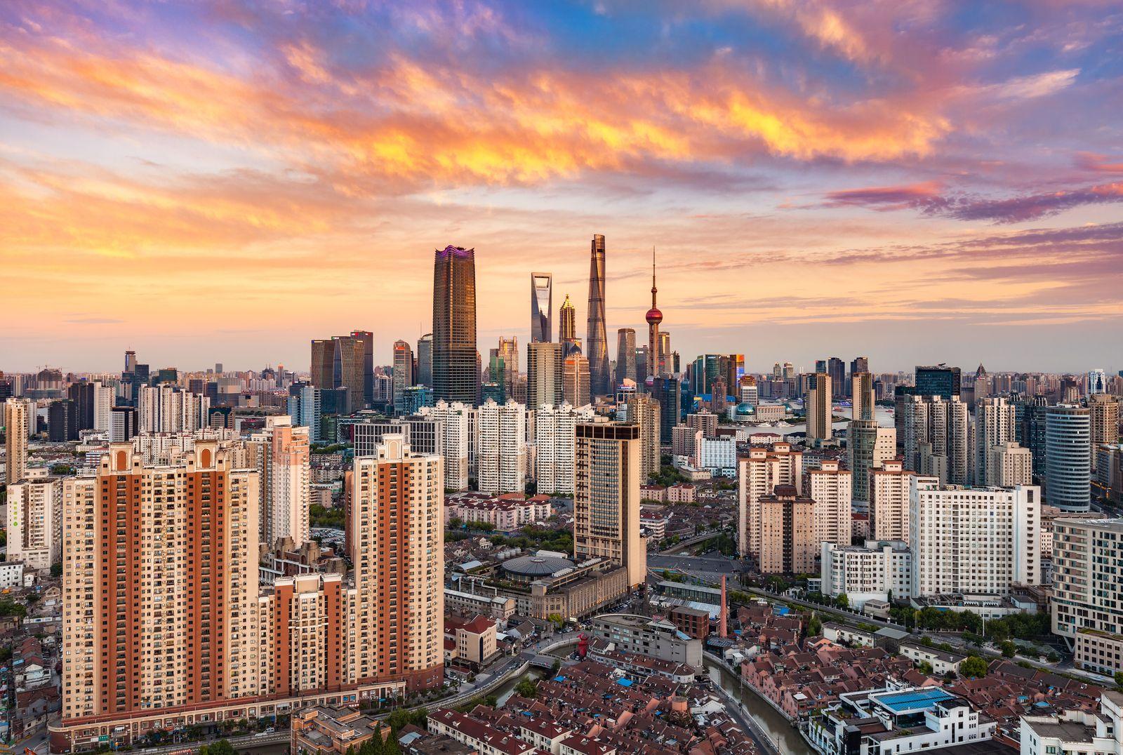 China / Banken-Viertel / Banken / Konjunktur / Shanghai