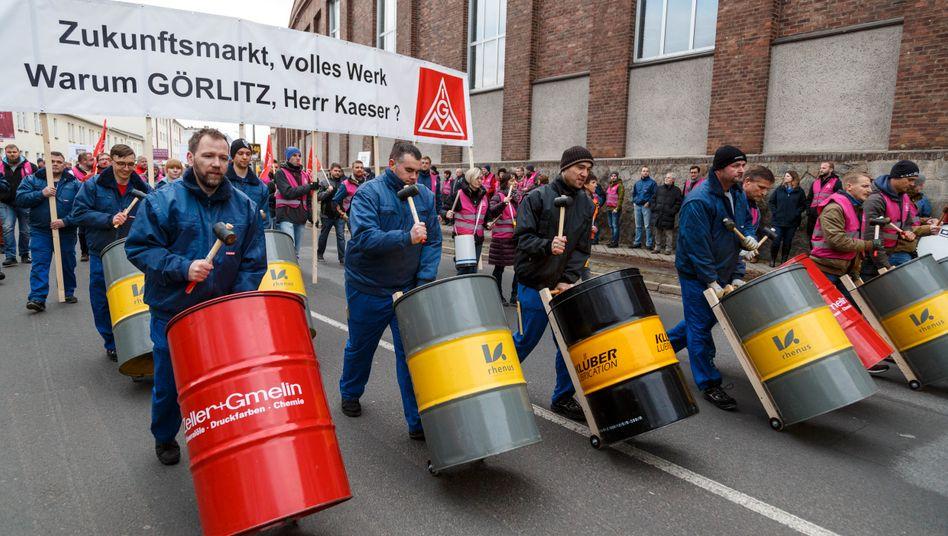 """Bald nicht mehr als eine """"Randnotiz""""? Proteste gegen drohende Siemens-Werksschließung"""