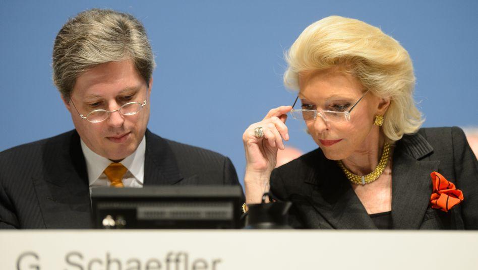Die Zahlen lassen sich sehen: Mutter und Sohn, Georg und Maria-Elisabeth Schaeffler,