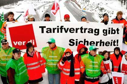 Teurer Streik: Die Tarifauseinandersetzungen im Öffentlichen Dienst dürften Verdi bi zu 75 Millionen Euro gekostet haben