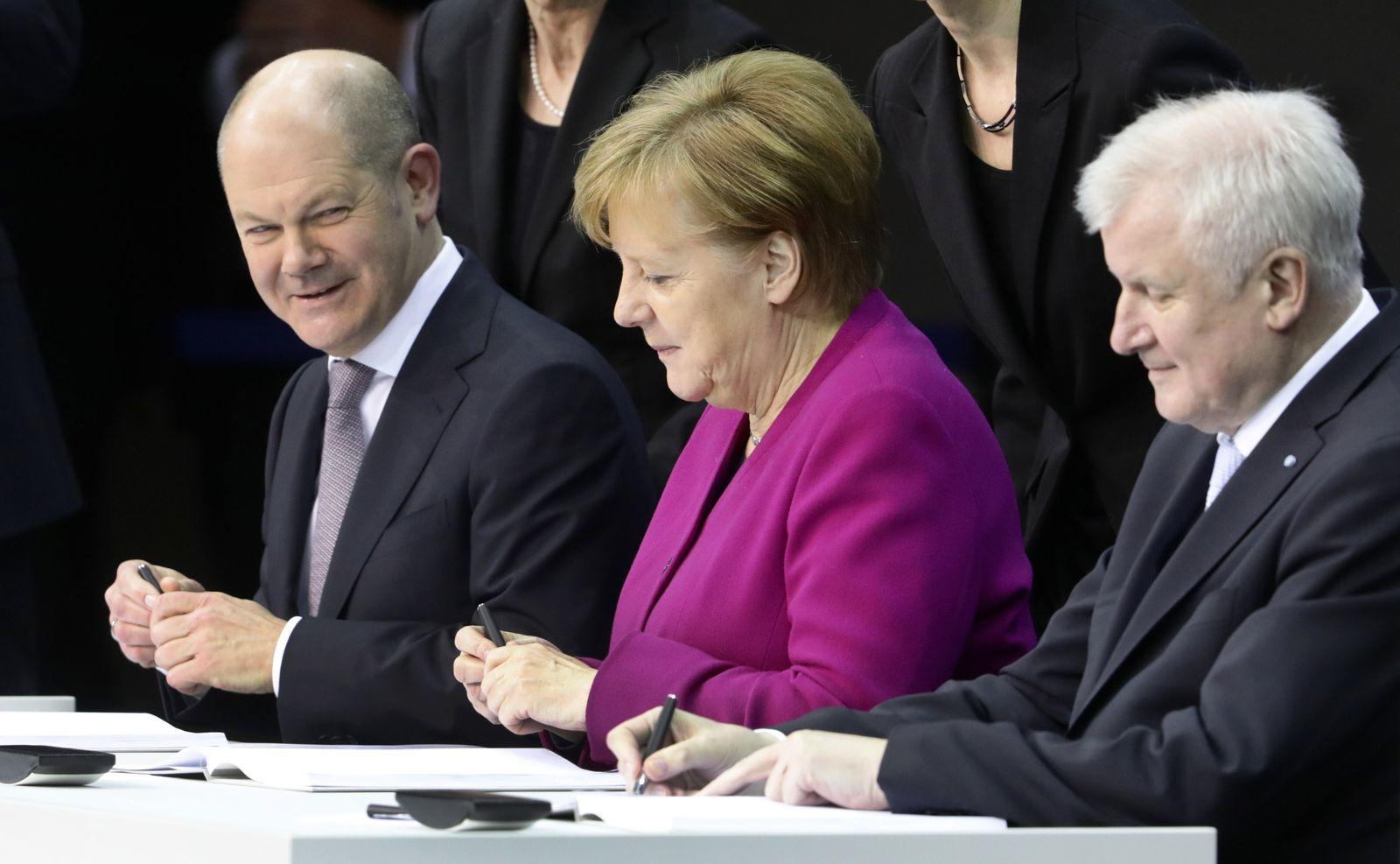 Regierungsbildung/ Unterzeichnung Koalitionsvertrag