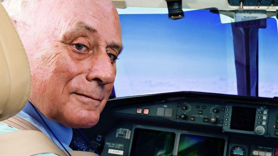 Auf Reisen Reinhold Würth steuert seine Flieger selbst; er besitzt eine Airline Transport Pilot Licence, die höchste Luftfahrtzulassung