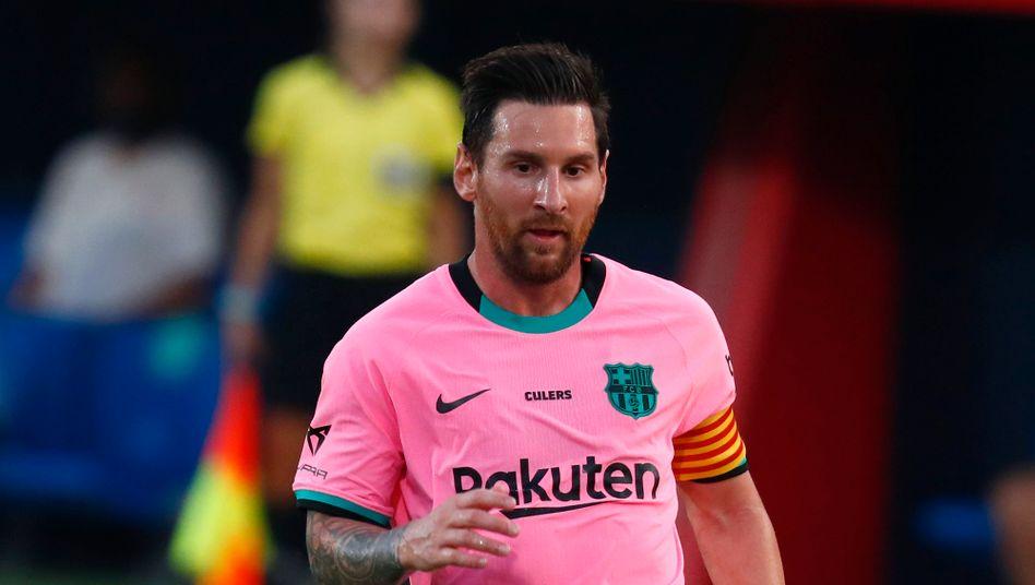 Messi bei einem Vorbereitungsspiel am Mittwoch in Barcelona.