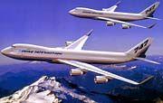 Schöne Flugzeuge, doch kaum einer kauft sie: Eine Boeing 747 X (hinten) und die Variante Stretch Freighter