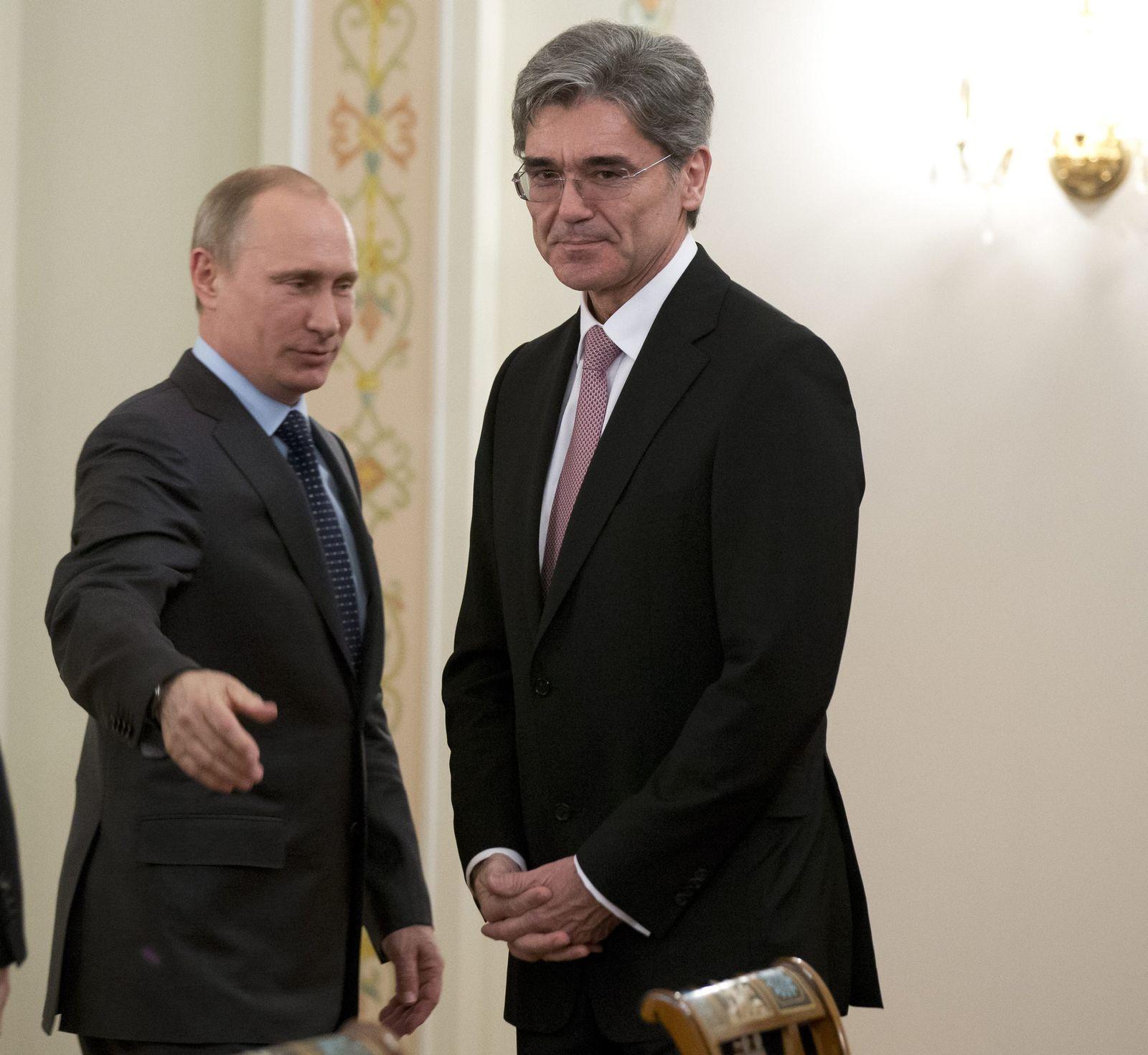 Putin meets Siemens CEO Kaeser