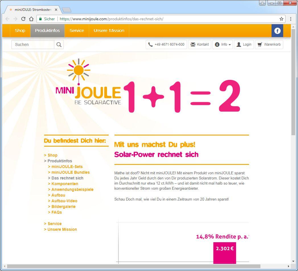 SCREENSHOT minijoule.com