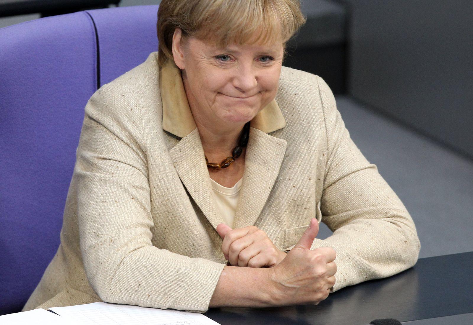 Merkel / Bundestag Abstimmung über Euro-Rettungsschirm