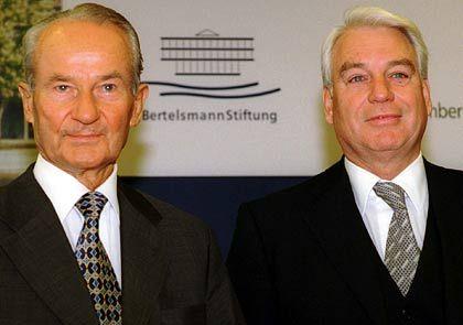 Bertelsmann-Granden: Reinhard Mohn (l.) und Mark Wössner
