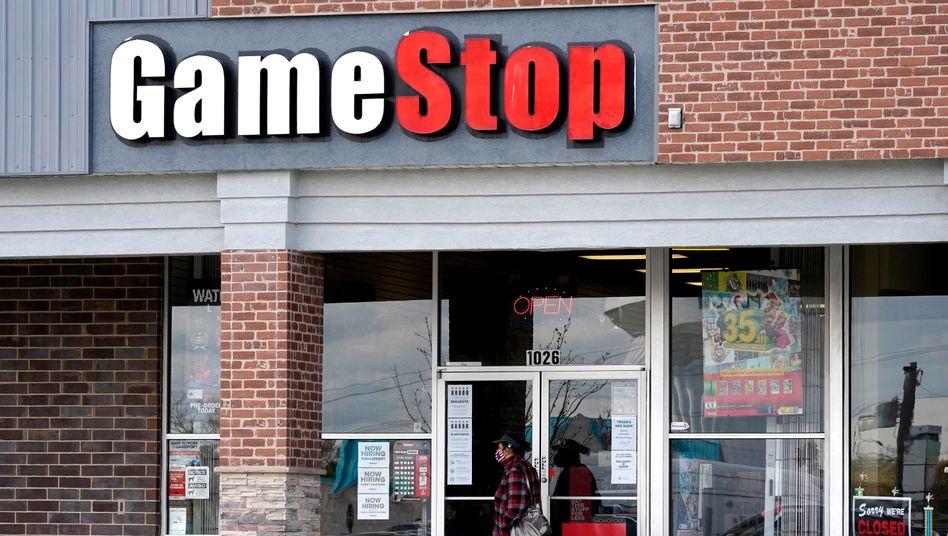 Echtes Geschäft: Gamestop-Filiale in Des Plaines, US-Staat Illinois