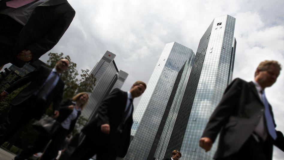 Deutsche Bank in Frankfurt: Spekulationen zufolge liefen die Geschäfte zuletzt schlecht
