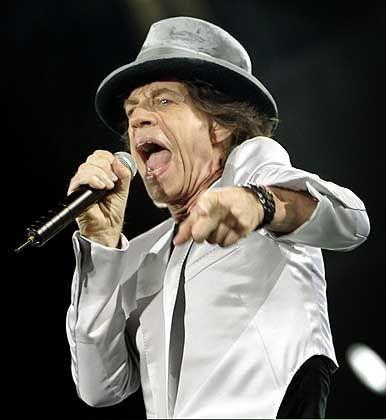 """Mick Jagger (beim Auftakt für die """"A Bigger Bang""""-Tour in Boston): """"Rough Justice"""" für die Union"""