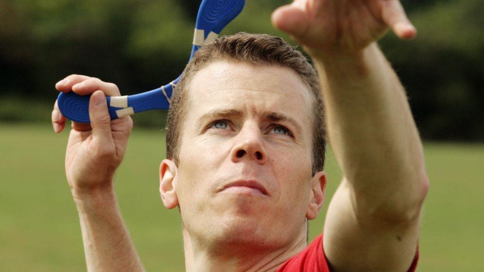 Fridolin Frost: Der 49-Jährige liebt das Bumerangwerfen