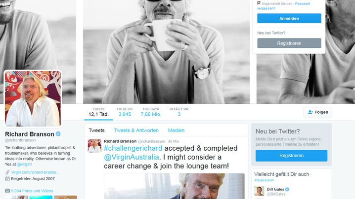 Branson, Musk, Cook: Das sind die einflussreichsten CEOs auf Twitter