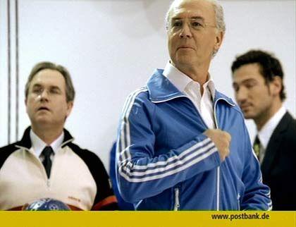 Werbefigur Beckenbauer: BBDO-Reklame für die Postbank