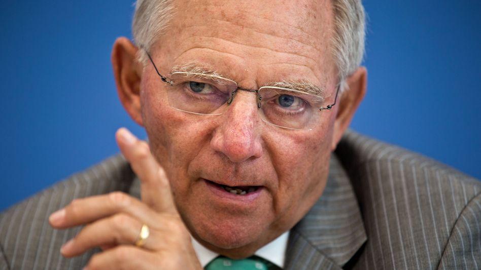 Bundesfinanzminister Schäuble: Verhandelt bis in den frühen Freitagmorgen - die Neuverschuldung bleibt in diesem Jahr auf 6,5 Milliarden Euro begrenzt