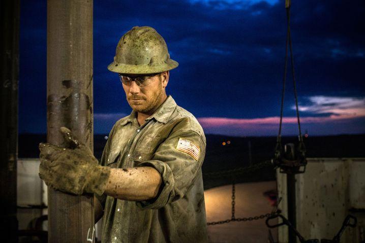 Öl-Arbeiter im Bakken-Gebiet