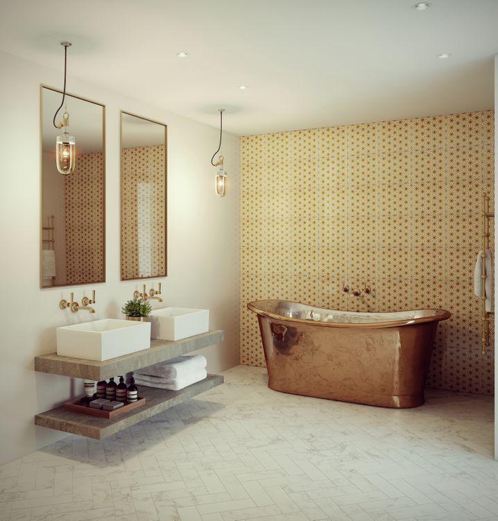 Feines Badezimmer: Seien Sie immer vorbereitet - vielleicht besucht Sie doch mal ein Arbeitskontakt im Home Office