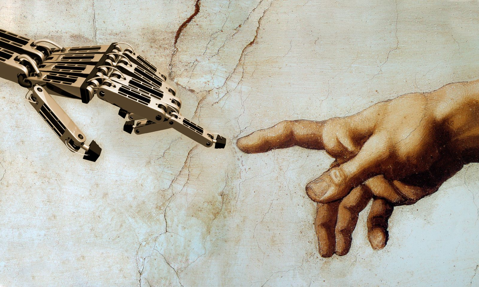 Michelangelo / Finger / Roboter / Hand / Technologie / Berührung