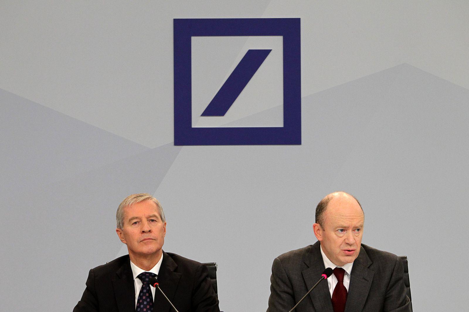 Pressekonferenz Deutsche Bank / Jürgen Fitschen / John Cryan
