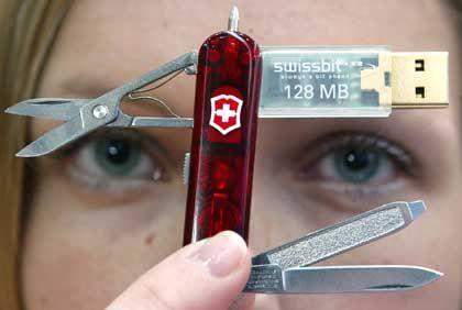 Fashion Victim: Selbst Schweizer Taschenmesser kommen nicht ohne Flash-Speicher aus