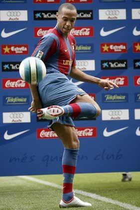 Neuer Star in Barcelona:Frankreichs Stürmer Henry