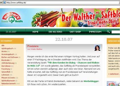 Alltag und Anekdoten:In ihrem Saftblog nimmt Chefin Walther kein Blatt vor den Mund
