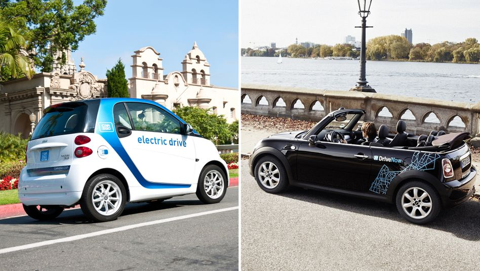 Car2Go und DriveNow: Daimler und BMW halten je 50 Prozent an dem neuen Unternehmen, das mit mehr als einer Milliarde Euro bewertet wird