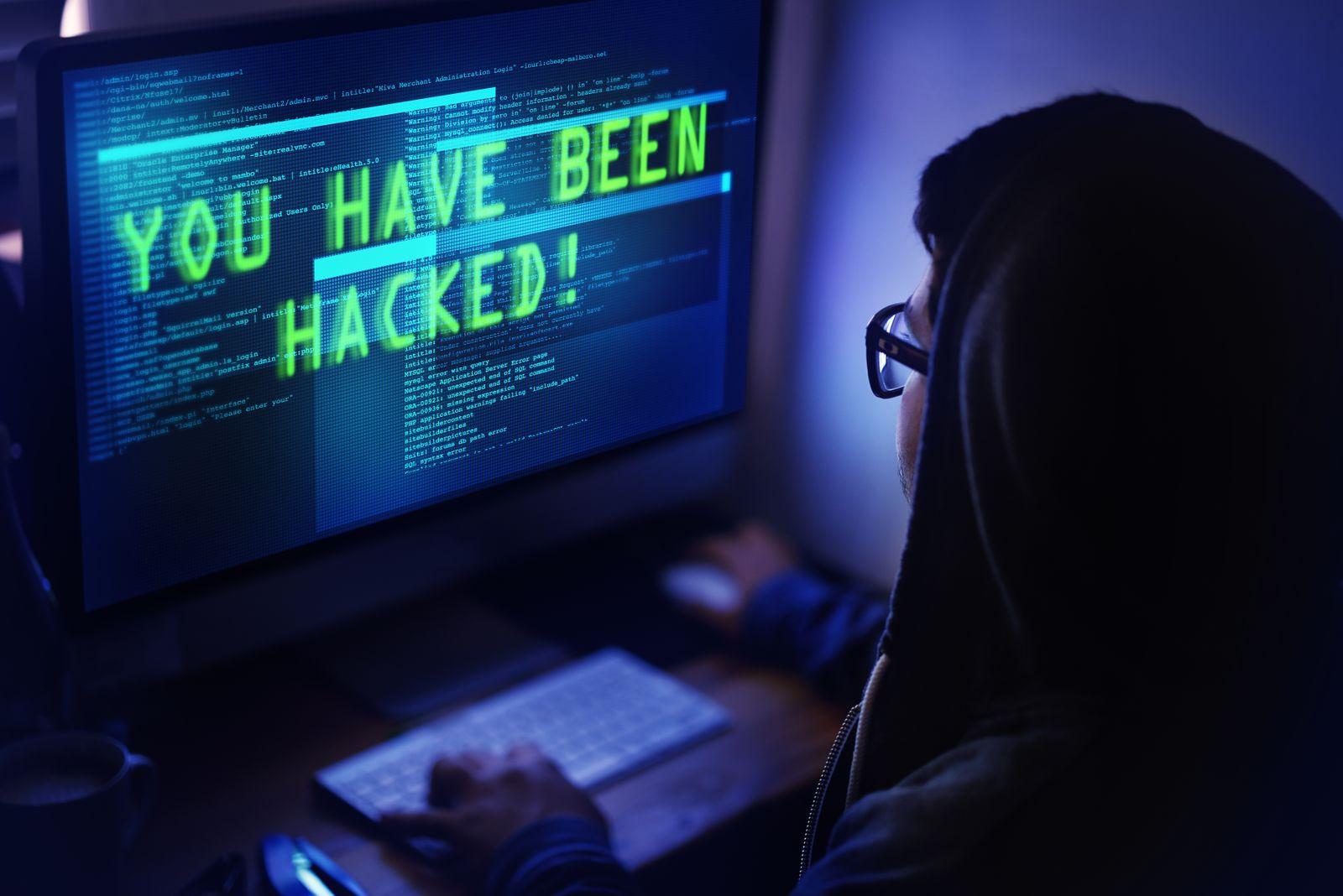 EINMALIGE VERWENDUNG Symbolbild Hacker /Hacking / Hack
