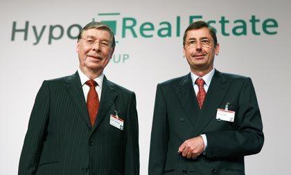 Unter Beschuss: HRE-Chef Funke (r.) und Aufsichtsrat Kurt Viermetz
