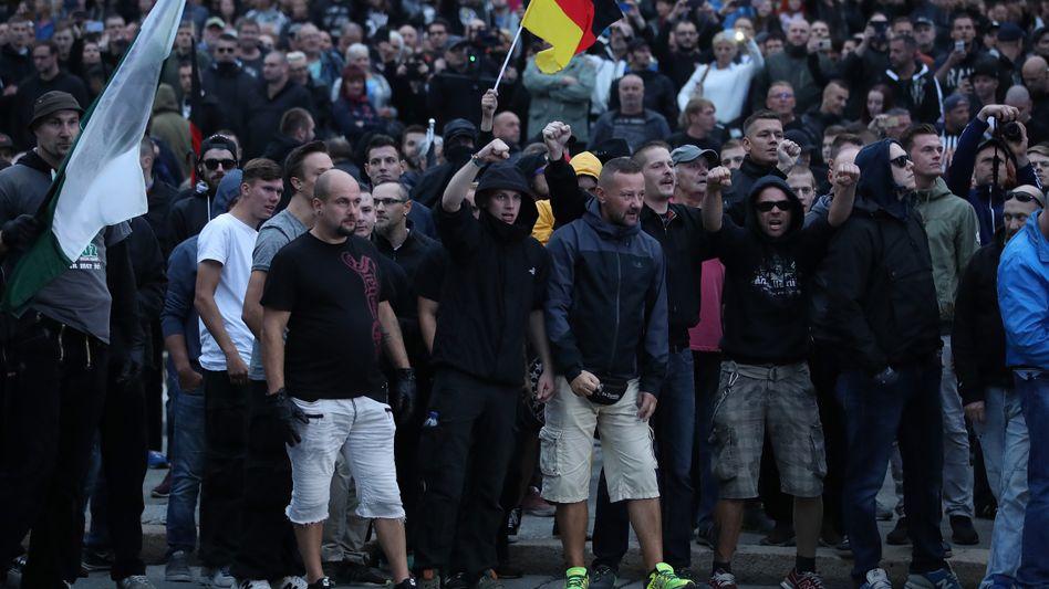 Demonstration am 1. September in Chemnitz
