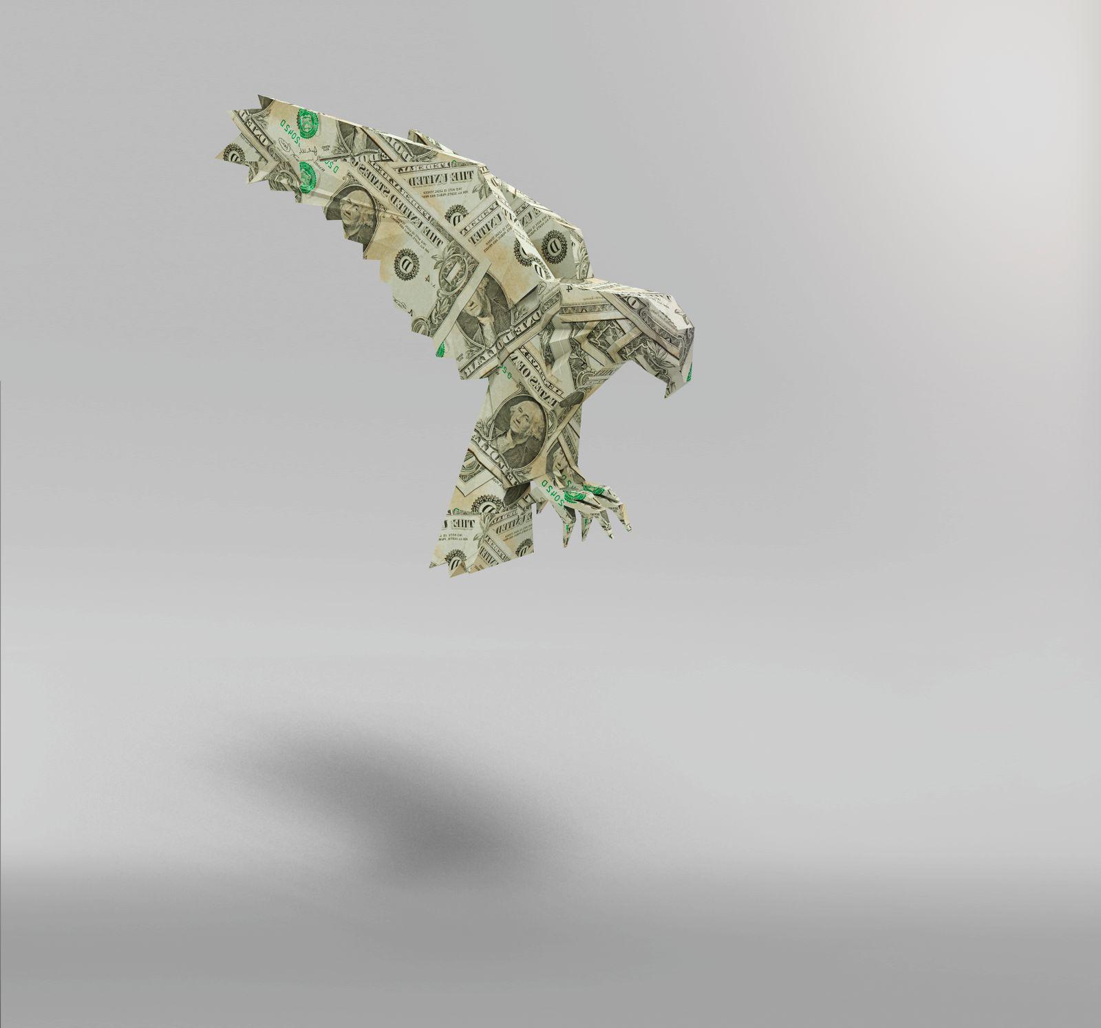American dollar paper Eagle