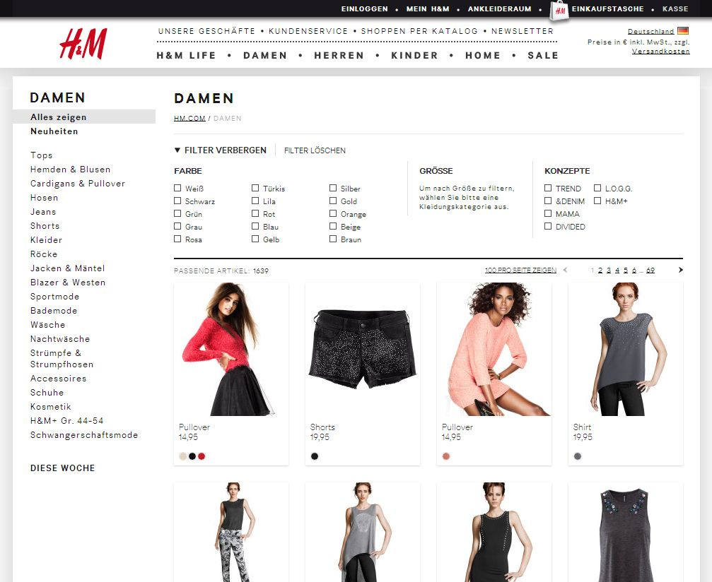 Screenshot / Hm.com