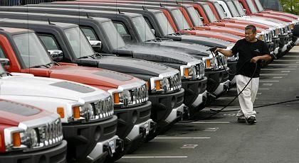 Ladenhüter: Spritschlucker wie Autos der Marke Hummer haben die Big Three aus Detroit in die Krise gebracht