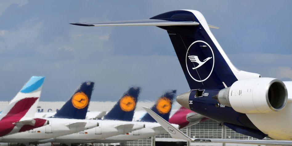Flugzeuge der Lufthansa: Für eine Wandelanleihe das Börsen-Momentum gut genutzt