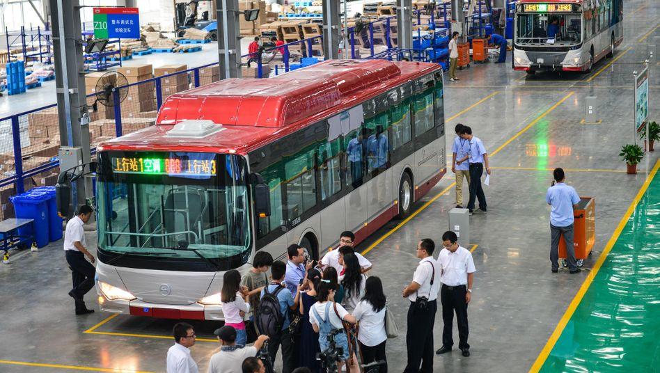 Build Your Dreams: Nicht nur in China (im Bild) will BYD Elektrobusse produzieren, sondern bald auch in Ungarn