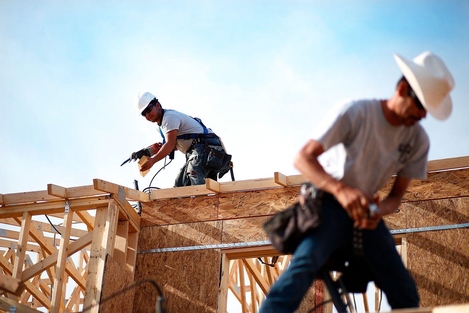 USA / Konjunktur / Haus-Bau / Bauarbeiter/ Baustelle / Wirtschaft