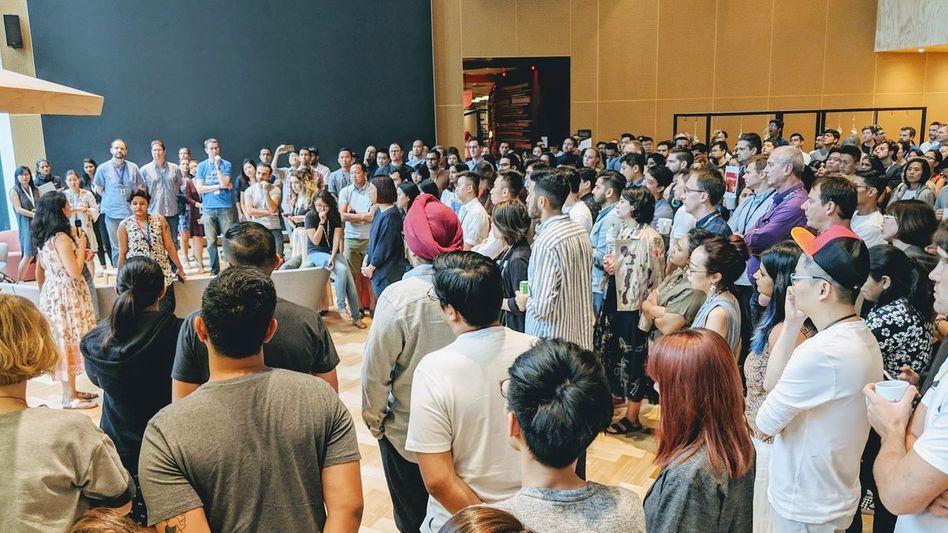 Protest gegen Sexismus bei Google: Zu denkwürdigen Demonstrationen kam es 2018 unter anderem der Beschäftigten in Singapur