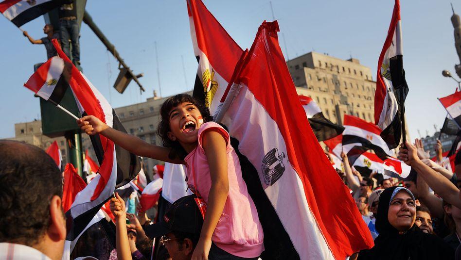 Tharir-Platz in Kairo: Tausende Ägypter feiern den Sturz Mursis