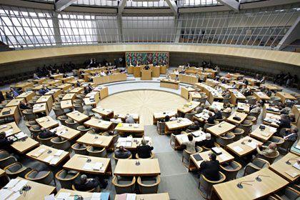 Sitze zu verteilen: Der Düsseldorfer Landtag