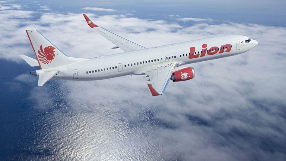 Hoffnungsträger: Modell der 737 Max für Lion Air