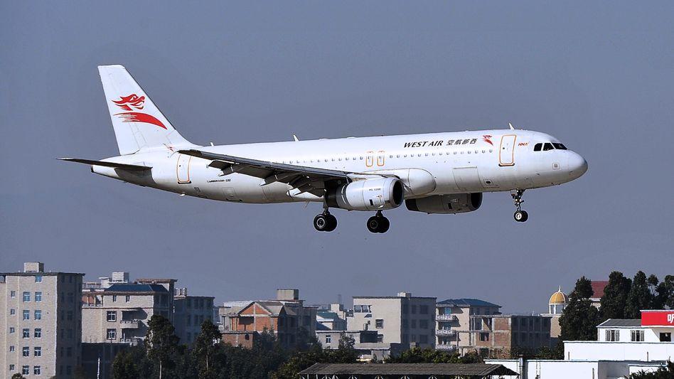 A320 der chinesischen Fluglinie West Air