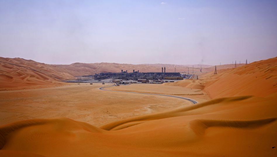 Schatz der Wüste: Saudi Aramco-Fabrik am Shaybah-Ölfeld.